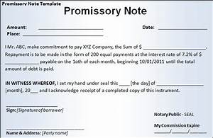 promissory note template With promissory note template arizona