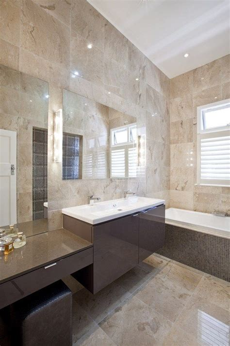 Modern Marble Bathroom by Coorparoo Bathroom Darren Interiors
