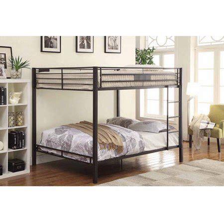 acme limbra queen  queen metal bunk bed black sand