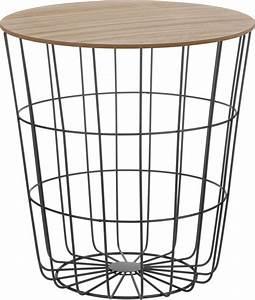 Beistelltisch Schwarz Holz : design beistelltisch schwarz oder wei holz deko couchtisch mit metall korb ebay ~ Orissabook.com Haus und Dekorationen