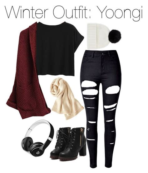Winter Outfit Yoongi | Uniqlo Winter and Polyvore
