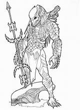Predator Coloring Vs Alien Aliens Head Spear Robot Tattoo Printable Ronniesolano Deviantart Mask Masked Coloriage Dessin Mortal Monster Drawings Sheets sketch template