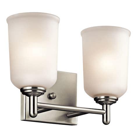 kichler vanity lights kichler 45573ni shailene bathroom vanity light