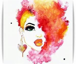 Gotta love natural hair art | Art work | Pinterest