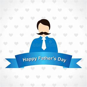 Happy Father's Day Greeting Card Design Stock Vector ...