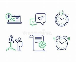 Technical Documentation Line Icons  Instruction  Plan And