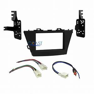 Car Radio Stereo Double Din Dash Kit Wire Harness For 2012