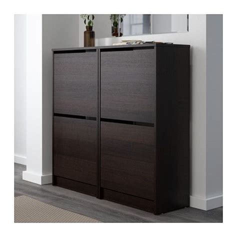 Ikea Bissa Shoe Cabinet Nz by Bissa Shoe Cabinet With 2 Compartments Black Brown
