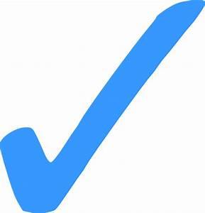 Blue Check Mark - Png Clip Art at Clker.com - vector clip ...