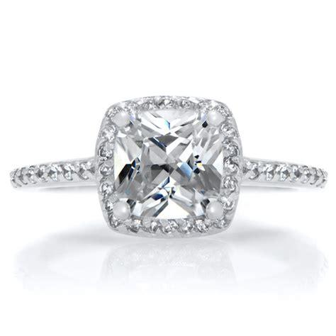 cusion cut engagement ring halo ring cushion cut cz halo rings