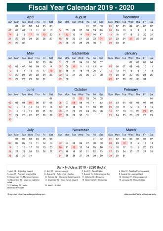 fiscal calendar vertical month week grid sun sat holiday