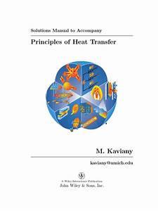 Principles Of Heat Transfer Solutions Manual