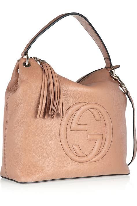 gucci soho hobo large textured leather shoulder bag lyst