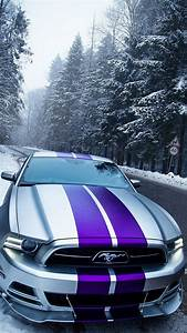 Ford Mustang Snow iPhone Wallpaper - iPhone Wallpapers