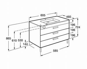 meuble salle de bain unik debba standard 3 tiroirs roca With profondeur meuble salle de bain standard