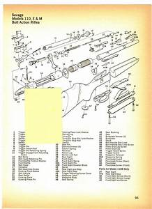 Savage 110  E  U0026 M Bolt Action Rifles With Exploded View