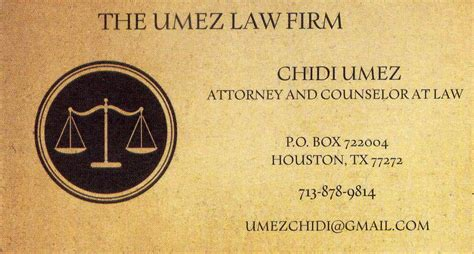 chidi umez attorney  law