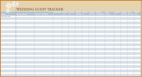 wedding guest list spreadsheet authorizationlettersorg