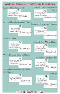 Wedding invitation etiquette how to address wedding for How to address wedding invitations diy
