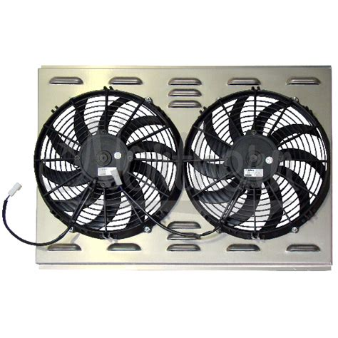 dual electric fans with shroud northern factory dual 12 quot electric fan shroud 17 3 8