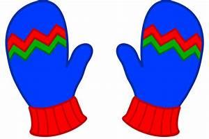Kids Blue Winter Mittens - Free Clip Art