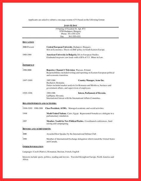 best one page resume good resume format