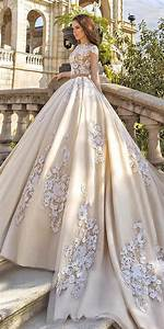 18 gorgeous floral applique wedding dresses trend for for Floral applique wedding dress