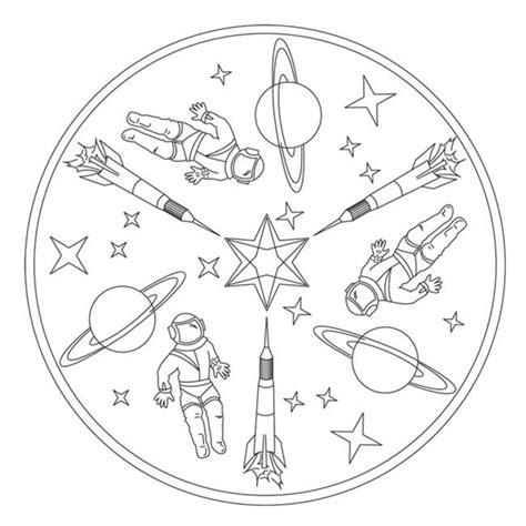 raketen mandala fuer kindergarten kita und schule