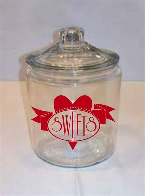 sweets vinyl decal sticker words letters valentines decor