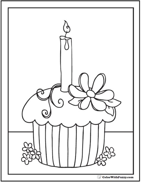 40+ Cupcake Coloring Pages Customize Pdf Printables