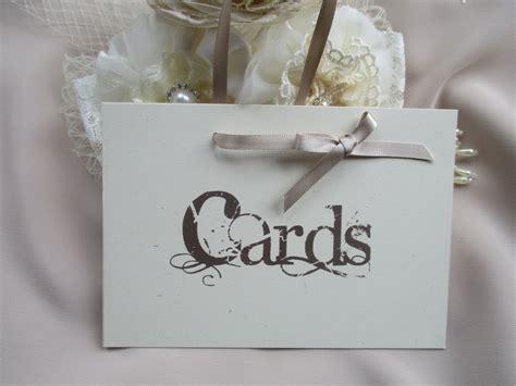 handmade wedding cards sign vintage style  ribbon hanger