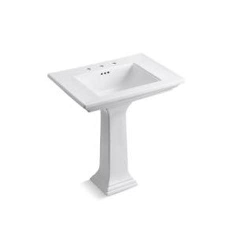 memoirs pedestal sink kohler kohler memoirs ceramic pedestal bathroom sink with 8 in