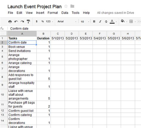 create  actionable project plan   google