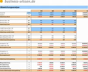 Deckungsbeitrag Berechnen Excel : abweichungsanalyse des deckungsbeitrags excel tabelle ~ Themetempest.com Abrechnung