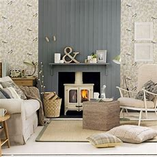 Neutral Country Living Room  Living Room Decorating Ideas