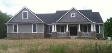 one story 4 bedroom house plans custom ranch washington twp craftsman exterior