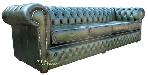 green settee chesterfield winchester 4 seater settee antique green