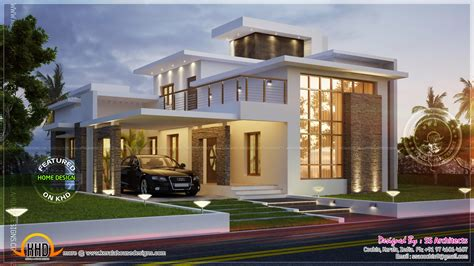awesome 3000 sq contemporary house home kerala plans - Contemporary House Floor Plans