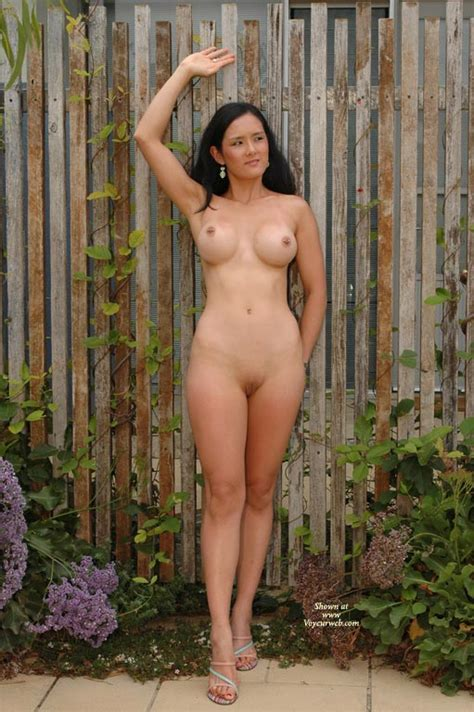 Standing Nude Against Fence September Voyeur Web Hall Of Fame