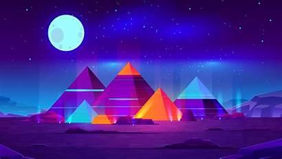 Neon Pyramids 4k Wallpapers Desktop Screen Mobile