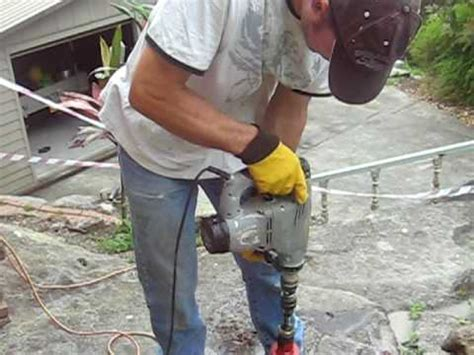 drilling with a home made drill
