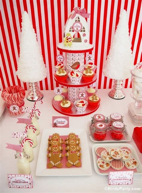 Christmas Candyland Party Ideas & Desserts Table Party