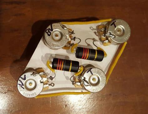 premium vintage style les paul wiring harness emerson pro cts pots quot bumble bee quot pio caps
