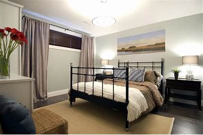 Basement Bedroom Hgtv Curtains Makeovers Window Decorating