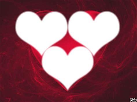 montage photo cadre 3 coeur pixiz