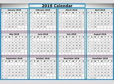 Free Printable Calendar 2018 with Holidays Printable