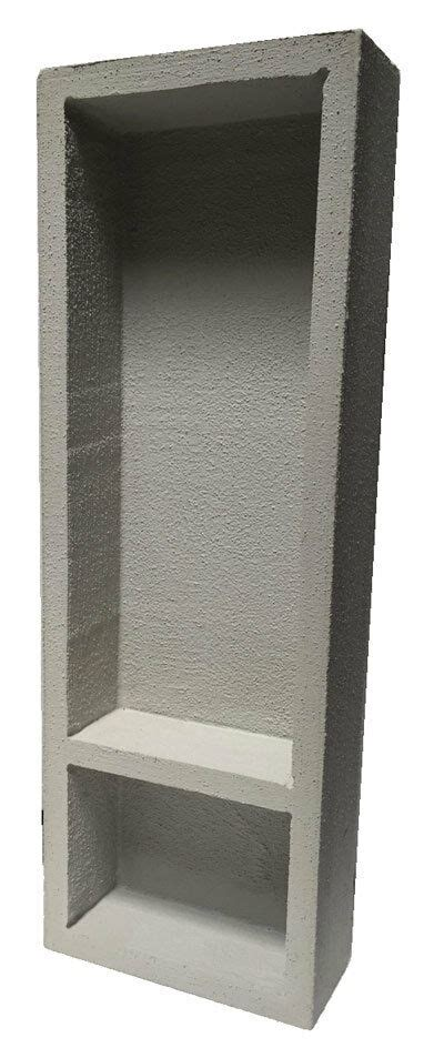 preformed double recessed shower niche tall
