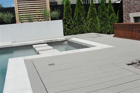 composite wood pool decking montreal outdoor living