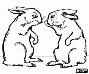 Juegos de Conejos para colorear, imprimir y pintar