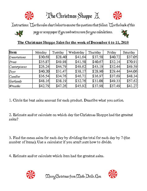 christmas math worksheet the christmas shoppe numbers under 100 a mrs spurling